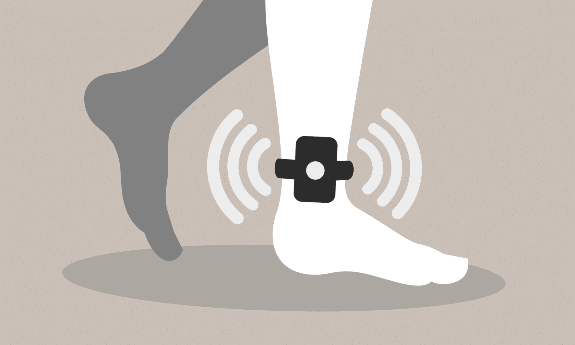 Graphic representing a DUI ankle monitor, or SCRAM
